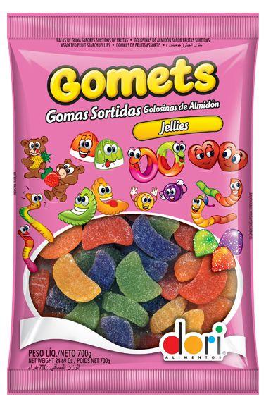Gomets Jellies Gomos de Frutas Sortidas 700g