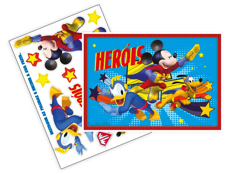 KIT DECORATIVO MICKEY SUPER HERÓI