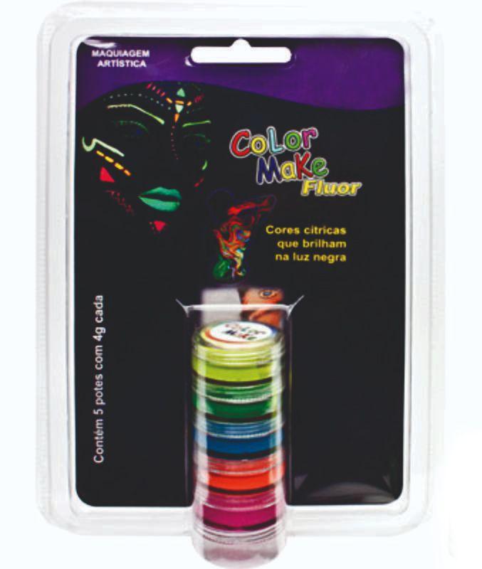 Kit Tinta Facial Fluorescente Neon - 5 Unidades