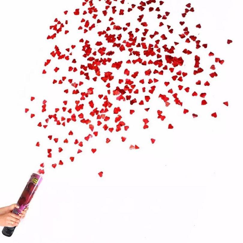 Lança Confetes Chuva de Corações