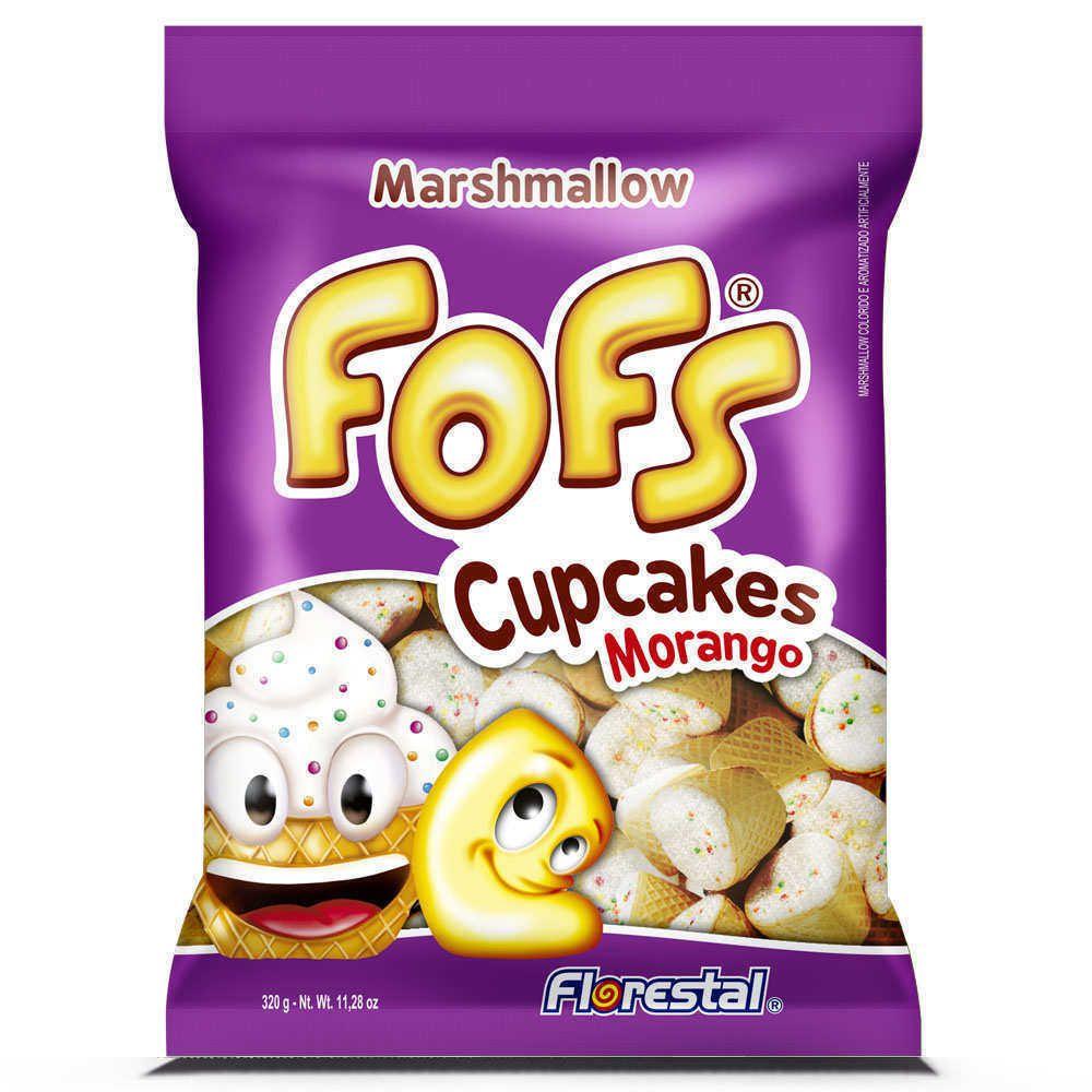 Marshmallows Fofs Cupcakes Morango 320g