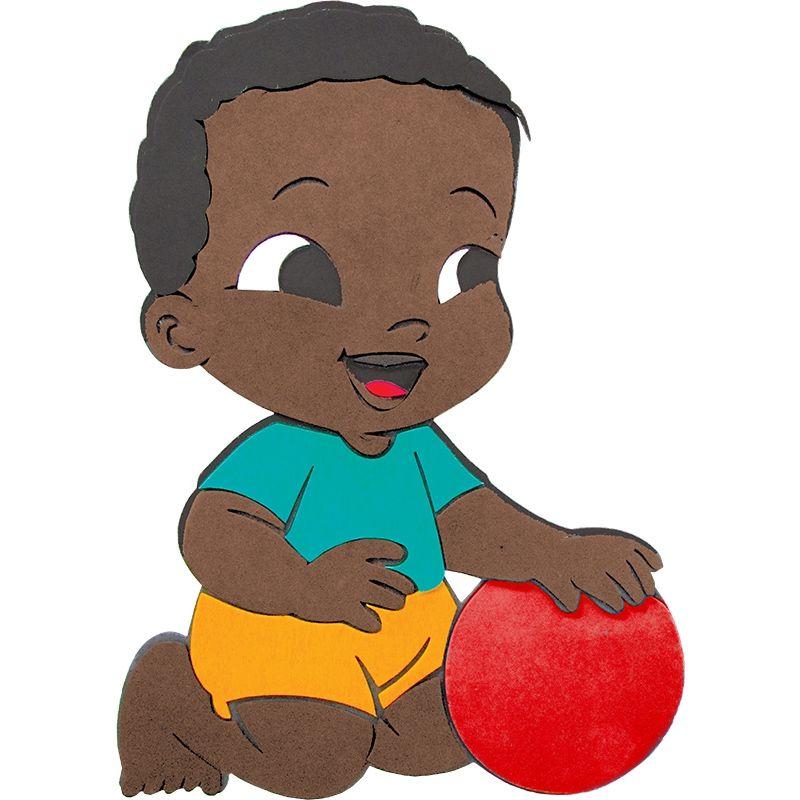 Painel Bebê Negro com Bola E.V.A