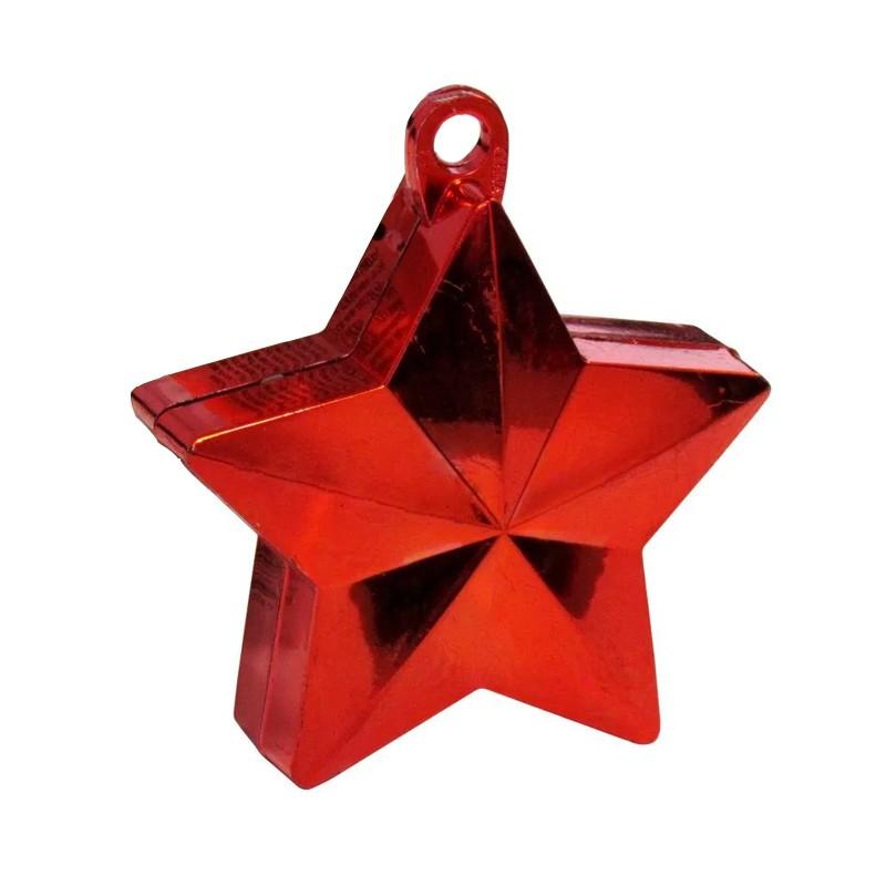 Peso de Balão Estrela - Vermelho