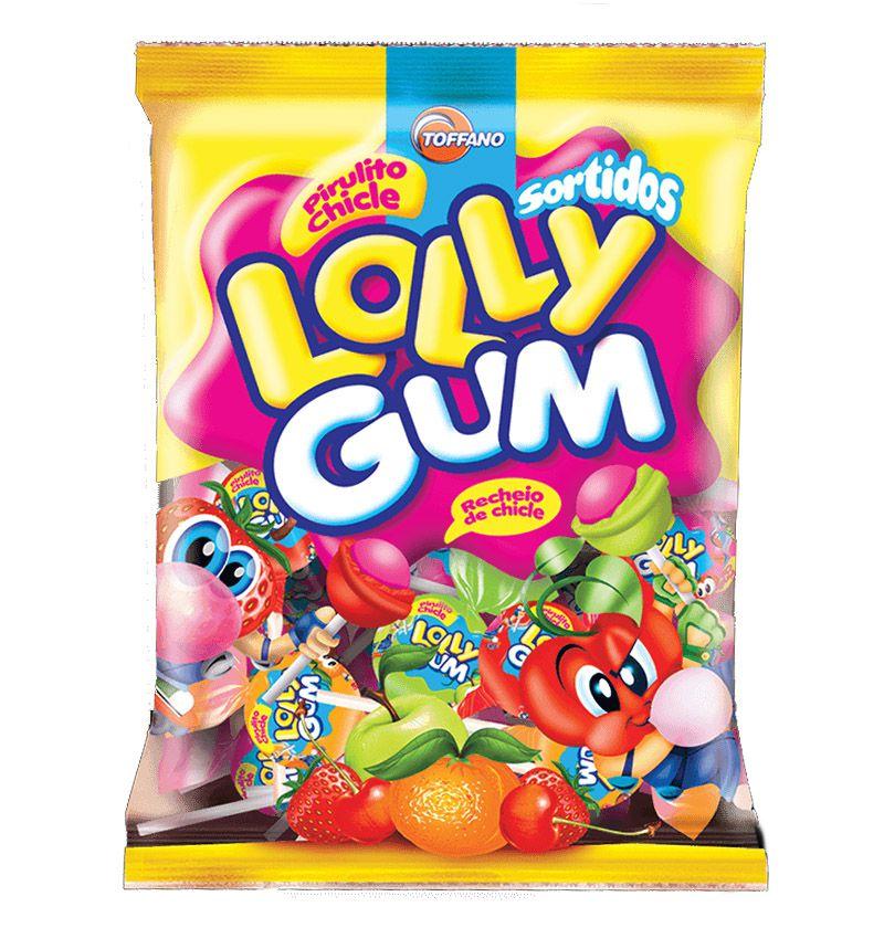 Pirulito Chicle Lolly Gum Sortidos 600g