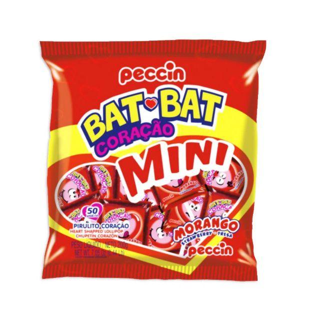 Pirulito Bat Bat Coração Mini
