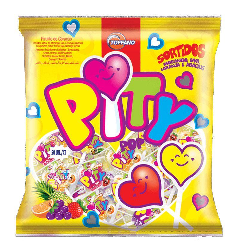 Pirulito Pity Pop Sortidos 400g