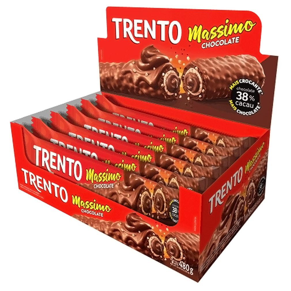 Rolinhos de Wafer Trento Massimo - 480g