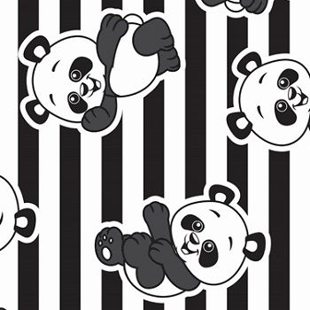 TNT Estampado Panda - 5 Metros