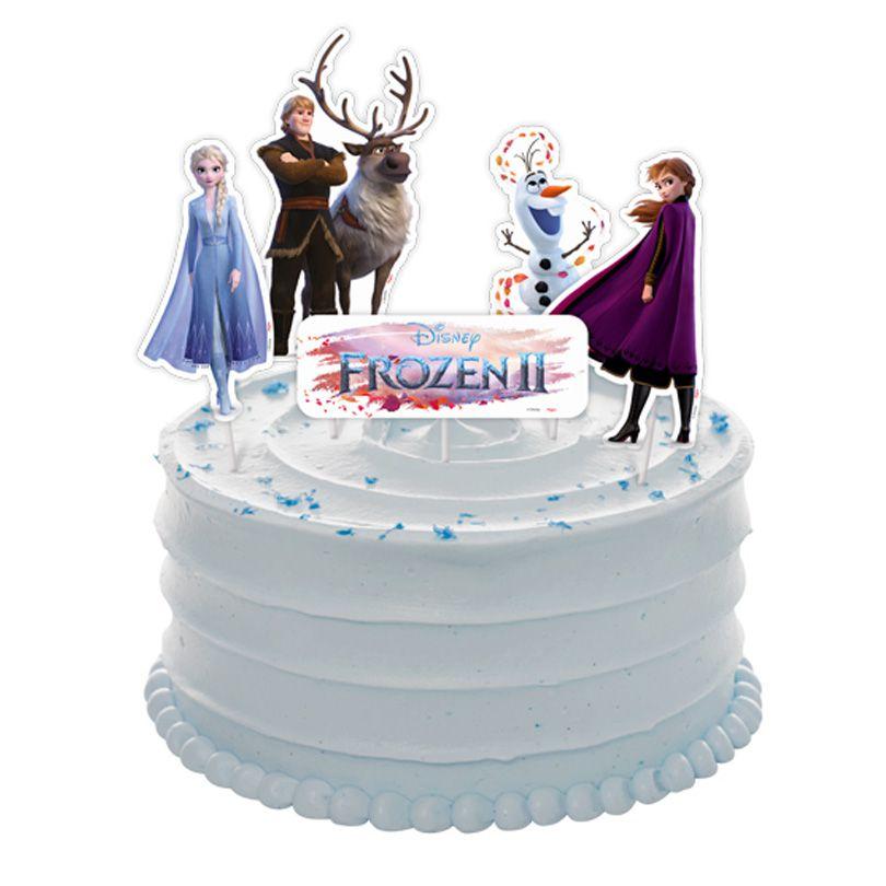 Topper  de Bolo Frozen - 5 Unidades