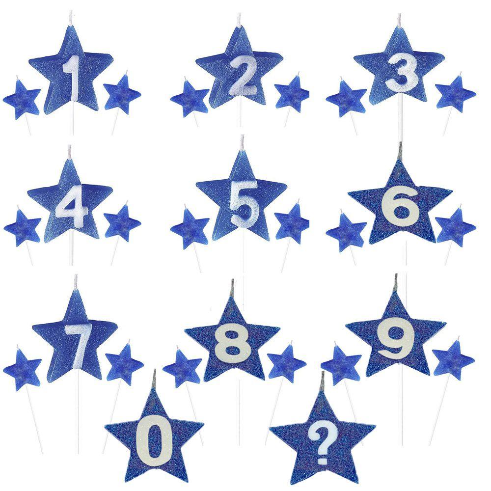 Vela de Aniversário New Star - Azul