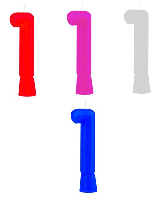 Vela de Aniversário Numeral Solid Colors