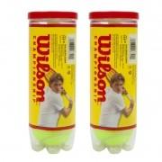 Kit 2 tubos de bola de tênis Wilson Championship