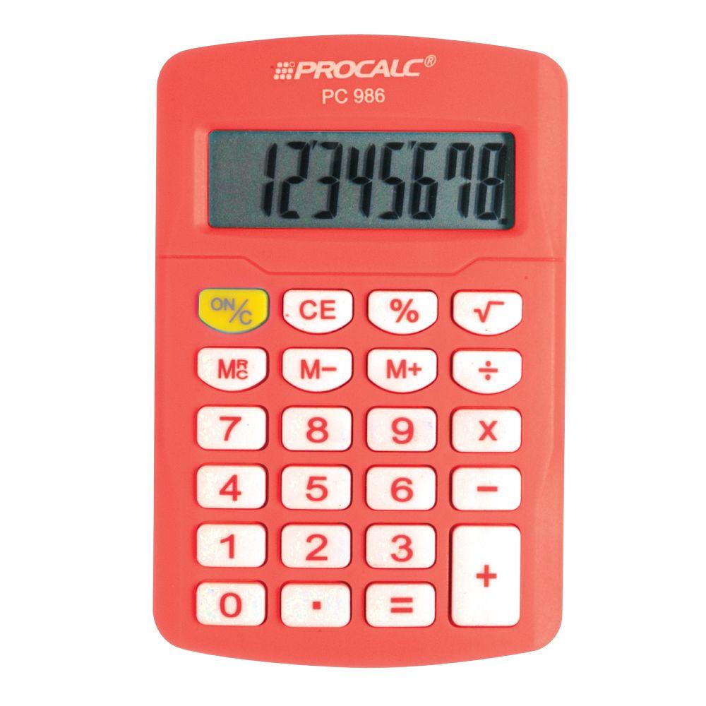 Calculadora Pessoal 8 Dígitos - PC986-O  Laranja