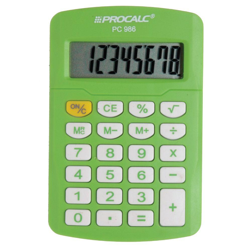 Calculadora Pessoal 8 Digitos PC986 - Verde