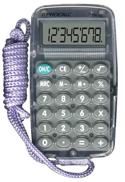 Calculadora Pessoal - 8 Dígitos - TRO3-G - Cinza