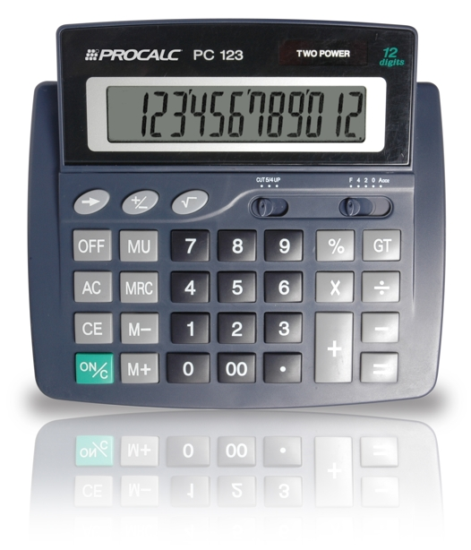 Calculadora de Mesa 12 Dígitos PC123