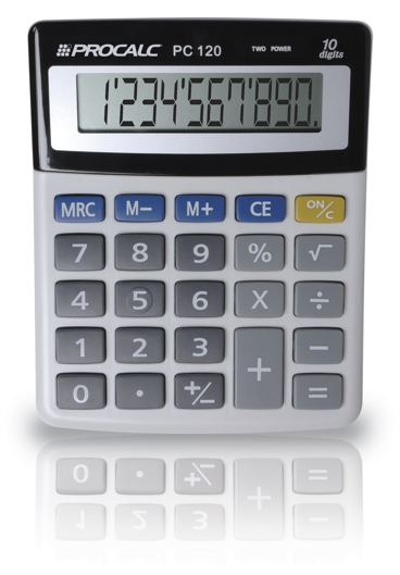 PROCALC - Calculadora de Mesa - 10 Dígitos - PC120