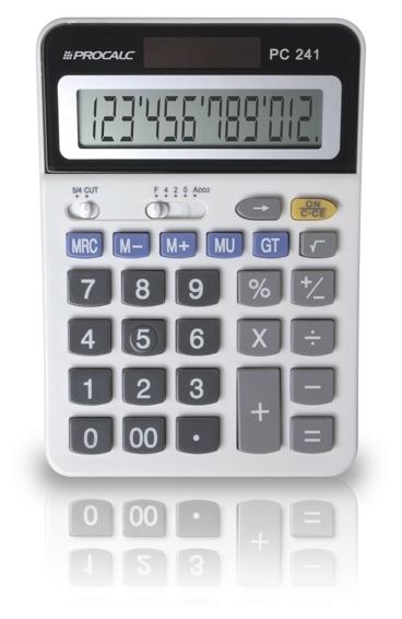 PROCALC - Calculadora de Mesa -  12 Dígitos  - PC241