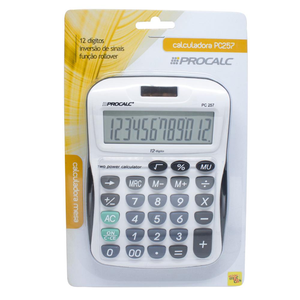PROCALC - Calculadora de Mesa - 12 Dígitos - PC257