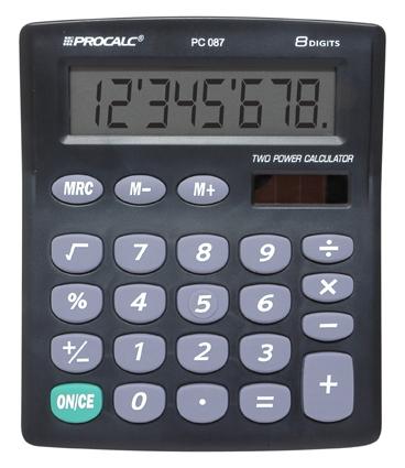 PROCALC - Calculadora de Mesa -  8 Dígitos - PC087