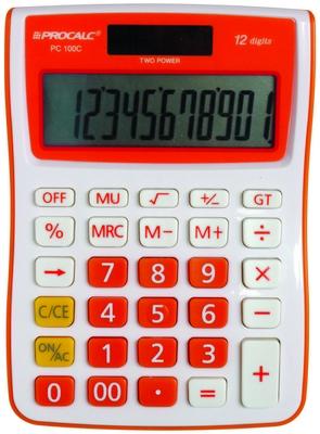 Calculadora de Mesa 12 Dígitos PC100-O - Laranja