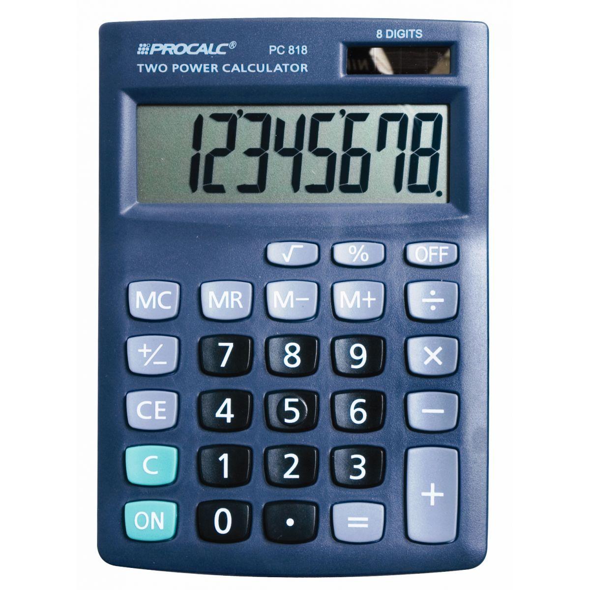 Calculadora de Mesa - 8 Digitos - PC818 -  Preta