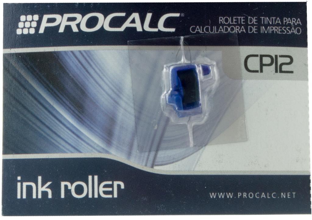 Rolete de Tinta Preta -  CP12  (IR21) - Pack c/ 5