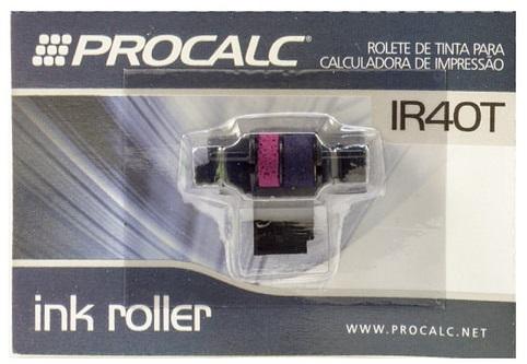 Rolete de Tinta Bicolor IR40T - Pack c/ 10