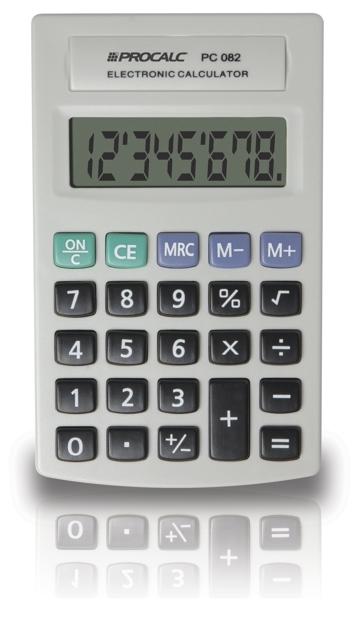 PROCALC - Calculadora Pessoal -  8 Dígitos - PC082