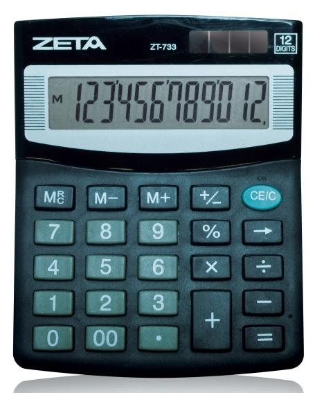 Calculadora de Mesa 12 Dígitos - ZT733