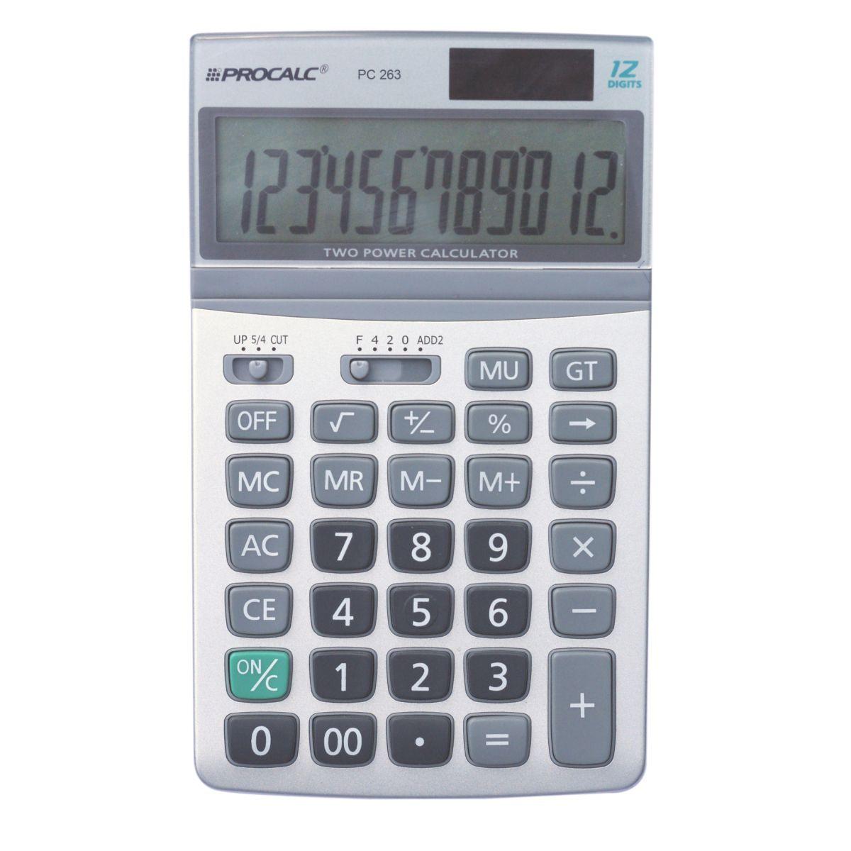 PROCALC - Calculadora de Mesa -  12 Digitos - PC263