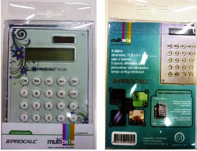 Calculadora Pessoal 10  Dígitos Multi skin - PC149