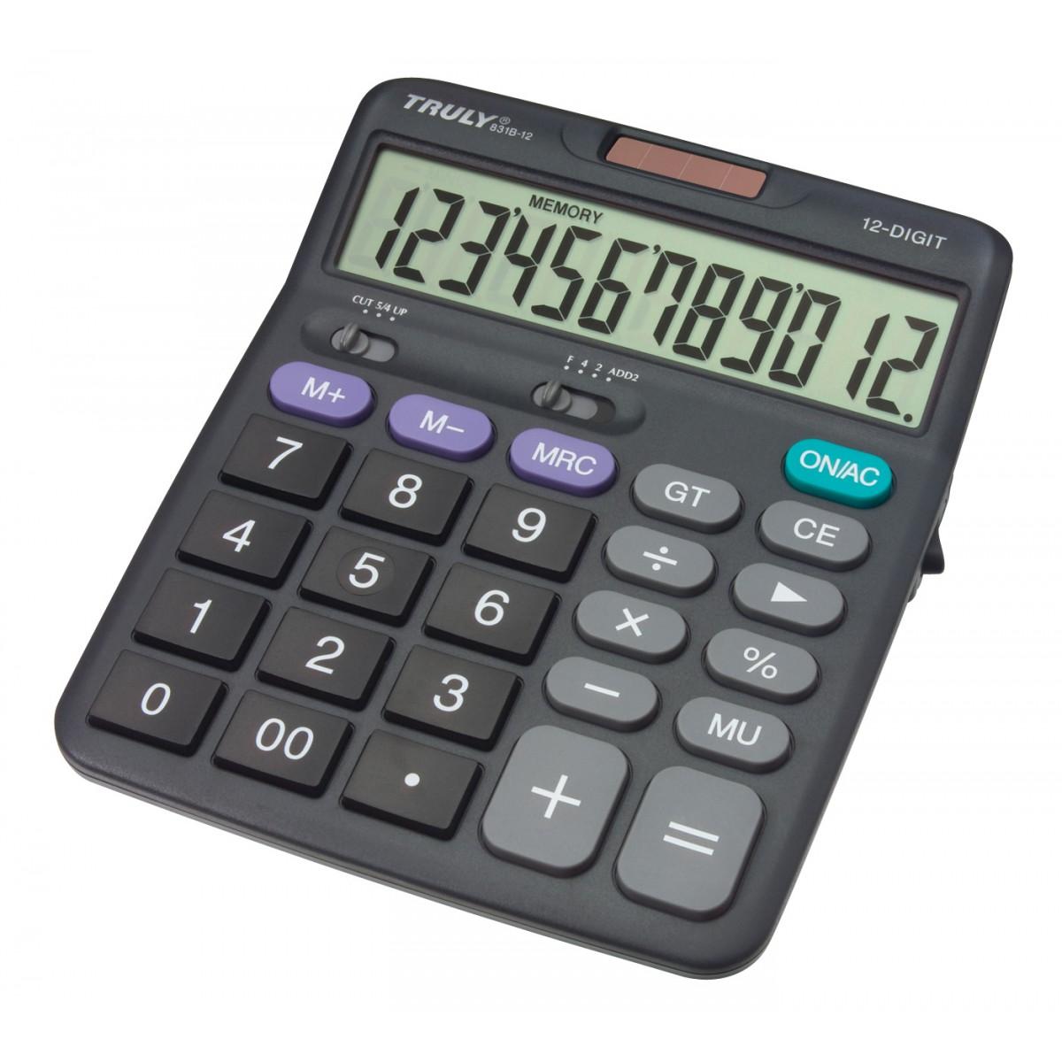 TRULY - Calculadora de Mesa -  12 Dígitos  - 831B-12