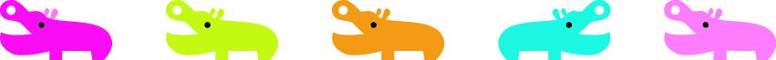 Fita Decorativa -  Deco Rush -  Hipopótamos - PLUS JAPAN