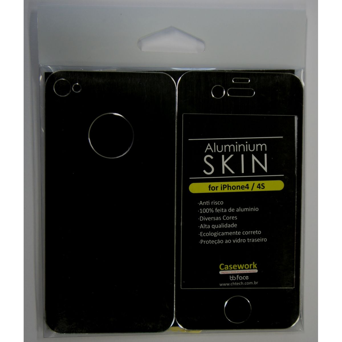 PACK Compre 7 Capas Pague 3 - Capa iphone 4 / 4S Skin preto