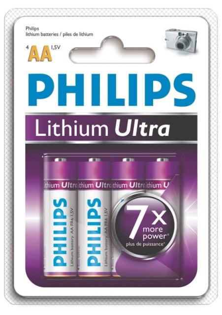 Pilha Litium AA – blister c/ 4