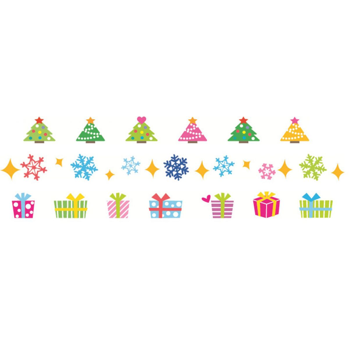 Fita Decorativa -  Deco Rush -  Pack de Natal 2 - Pack 1+2 - PLUS JAPAN