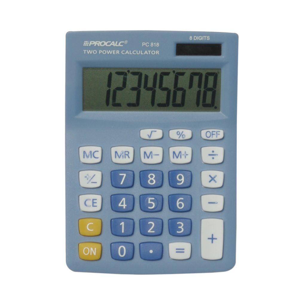 Calculadora de Mesa PC818BL -  Azul