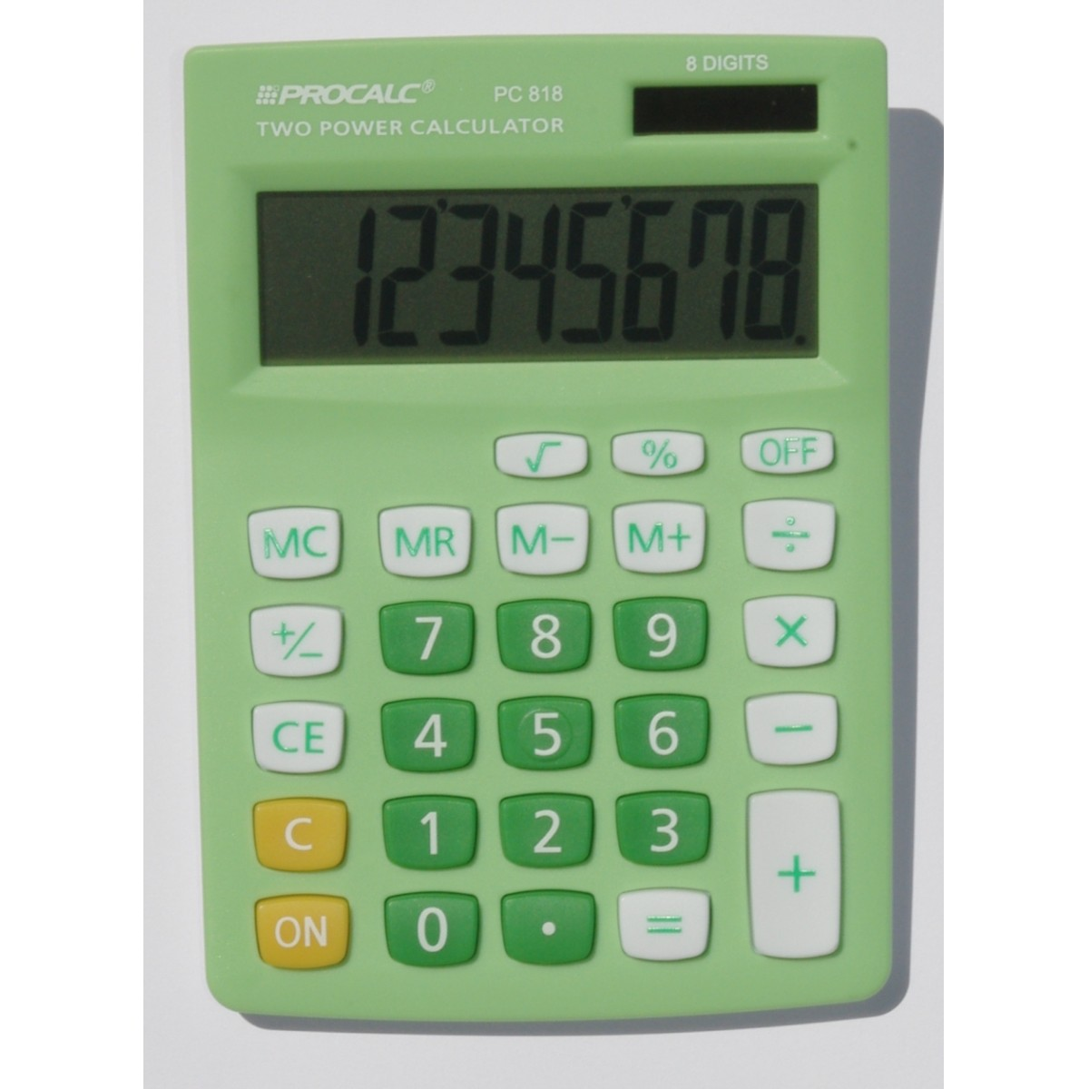 Calculadora de Mesa 8 Dígitos PC818 - Verde