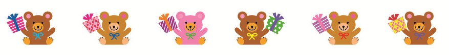 Fita Decorativa -  Deco Rush -  Bears 2 - PLUS JAPAN