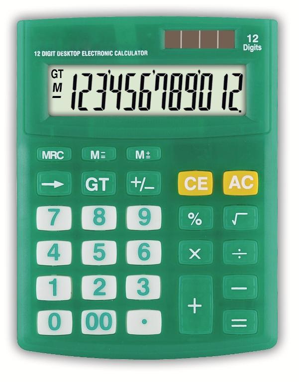 Calculadora de Mesa 12 Dígitos - ZT316 Verde