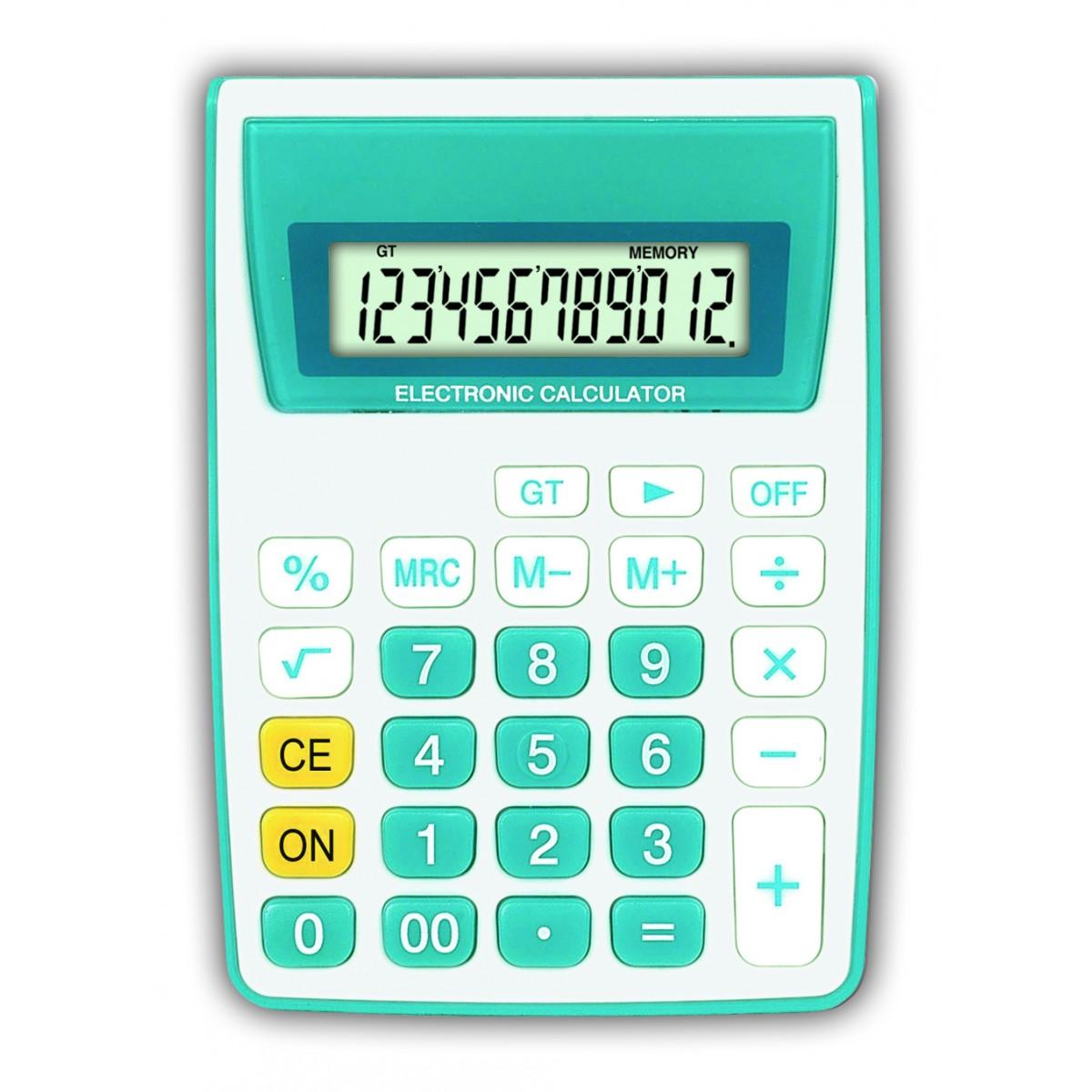 Calculadora de Mesa 12 Dígitos - ZT886 Azul