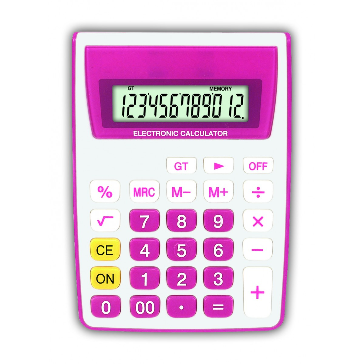 Calculadora de Mesa 12 Dígitos - ZT886 Pink