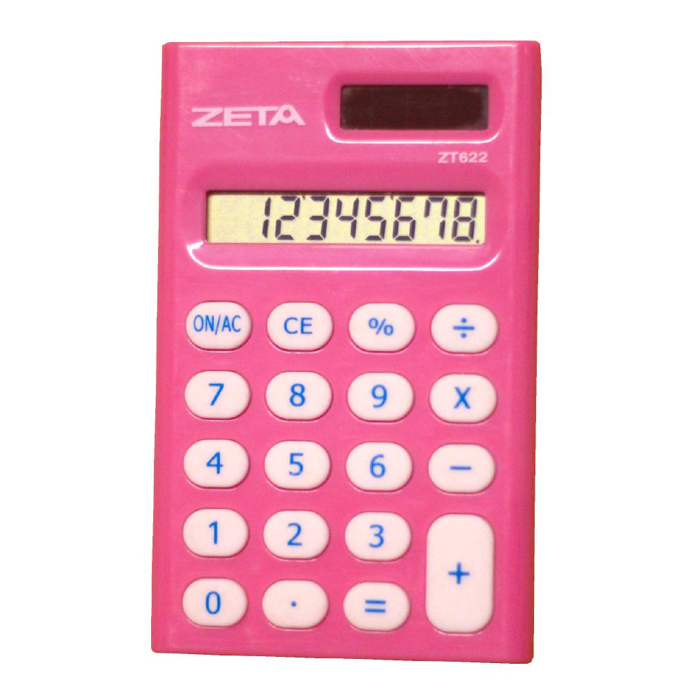 Calculadora Pessoal 8 Dígitos - ZT622 - Pink
