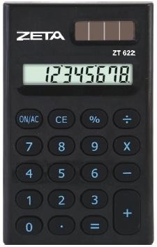 Calculadora Pessoal Zeta ZT622 -  8 Dígitos