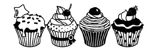 Carimbo Decorativo / Deco Roller - Cupcakes