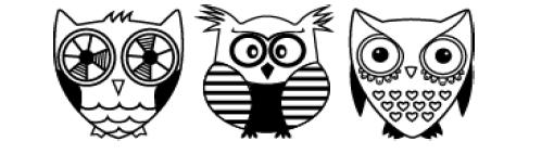 Carimbo Decorativo / Deco Roller - Owls