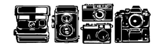 Carimbo Decorativo / Deco Roller - Cameras