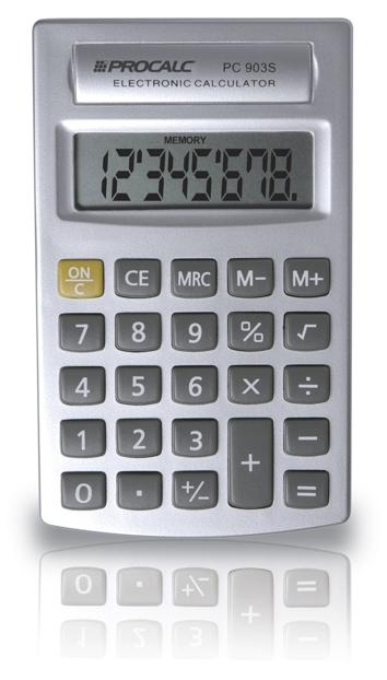 PROCALC - Calculadora Pessoal -  8 Dígitos - PC903S