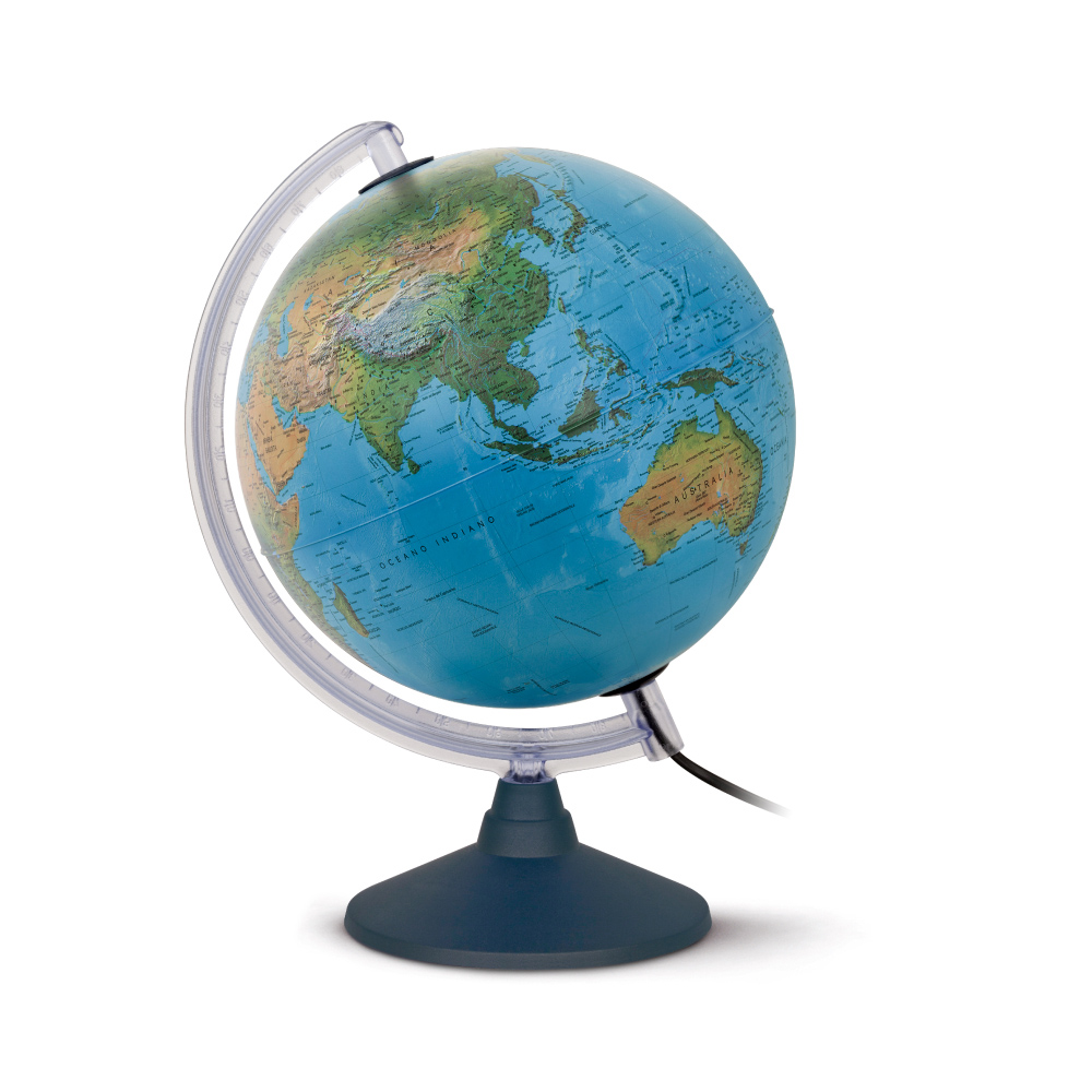 Globo Terrestre Geográfico - Elite - 25CM - Iluminado – 110V – TECNODIDATTICA